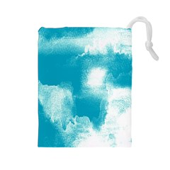 Ombre Drawstring Pouches (large)  by ValentinaDesign