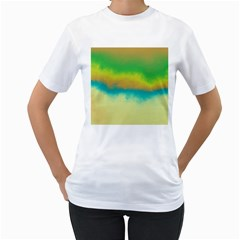Ombre Women s T Shirt (white)  by ValentinaDesign