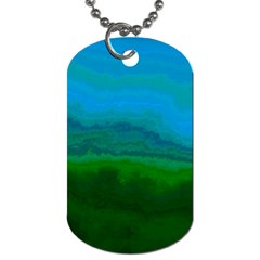Ombre Dog Tag (two Sides) by ValentinaDesign