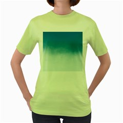 Ombre Women s Green T Shirt by ValentinaDesign