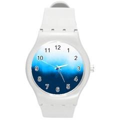 Ombre Round Plastic Sport Watch (m) by ValentinaDesign