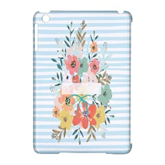 Watercolor Bouquet Floral White Apple Ipad Mini Hardshell Case (compatible With Smart Cover) by Nexatart