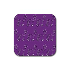 Pig Star Pattern Wallpaper Vector Rubber Square Coaster (4 Pack)  by Nexatart