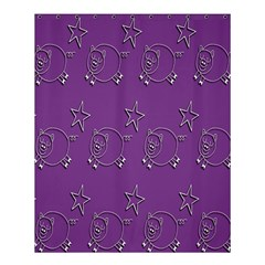 Pig Star Pattern Wallpaper Vector Shower Curtain 60  X 72  (medium)  by Nexatart