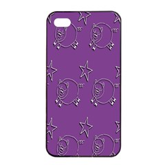 Pig Star Pattern Wallpaper Vector Apple Iphone 4/4s Seamless Case (black) by Nexatart