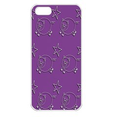 Pig Star Pattern Wallpaper Vector Apple Iphone 5 Seamless Case (white) by Nexatart