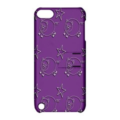 Pig Star Pattern Wallpaper Vector Apple Ipod Touch 5 Hardshell Case With Stand by Nexatart