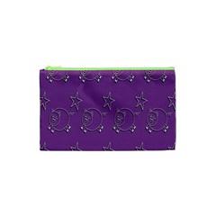 Pig Star Pattern Wallpaper Vector Cosmetic Bag (xs) by Nexatart