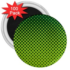 Halftone Circle Background Dot 3  Magnets (100 Pack) by Nexatart