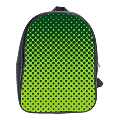 Halftone Circle Background Dot School Bag (large)