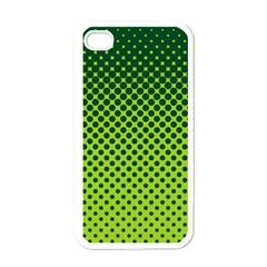 Halftone Circle Background Dot Apple Iphone 4 Case (white) by Nexatart