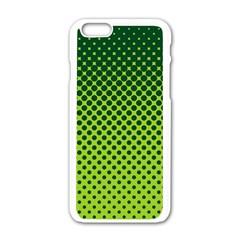 Halftone Circle Background Dot Apple Iphone 6/6s White Enamel Case by Nexatart