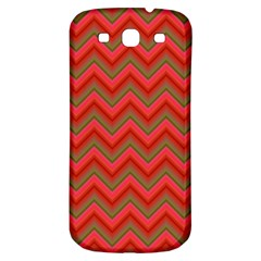 Background Retro Red Zigzag Samsung Galaxy S3 S Iii Classic Hardshell Back Case by Nexatart