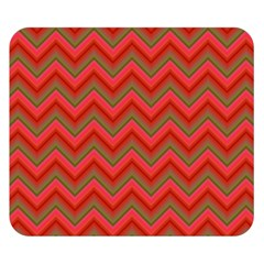 Background Retro Red Zigzag Double Sided Flano Blanket (small)  by Nexatart