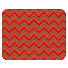 Background Retro Red Zigzag Double Sided Flano Blanket (medium)  by Nexatart