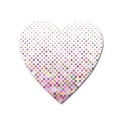 Pattern Square Background Diagonal Heart Magnet by Nexatart