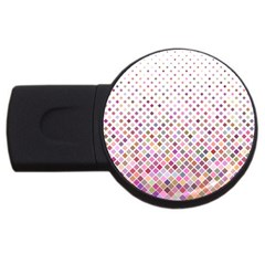 Pattern Square Background Diagonal Usb Flash Drive Round (2 Gb)