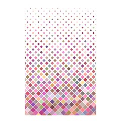 Pattern Square Background Diagonal Shower Curtain 48  X 72  (small)  by Nexatart