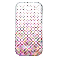 Pattern Square Background Diagonal Samsung Galaxy S3 S Iii Classic Hardshell Back Case by Nexatart