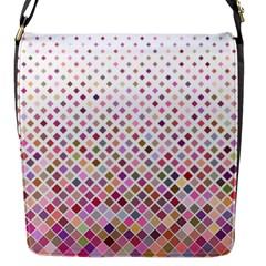 Pattern Square Background Diagonal Flap Messenger Bag (s) by Nexatart