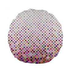 Pattern Square Background Diagonal Standard 15  Premium Flano Round Cushions by Nexatart