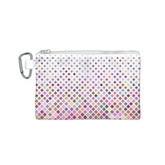 Pattern Square Background Diagonal Canvas Cosmetic Bag (s) by Nexatart