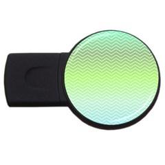 Green Line Zigzag Pattern Chevron Usb Flash Drive Round (4 Gb) by Nexatart