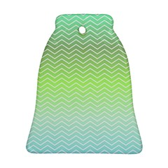 Green Line Zigzag Pattern Chevron Ornament (bell) by Nexatart