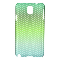 Green Line Zigzag Pattern Chevron Samsung Galaxy Note 3 N9005 Hardshell Case by Nexatart