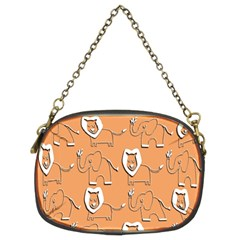 Lion Pattern Wallpaper Vector Chain Purses (two Sides)  by Nexatart