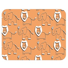 Lion Pattern Wallpaper Vector Double Sided Flano Blanket (medium)  by Nexatart