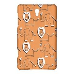 Lion Pattern Wallpaper Vector Samsung Galaxy Tab S (8 4 ) Hardshell Case  by Nexatart