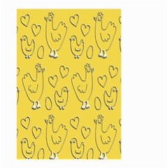 Chicken Chick Pattern Wallpaper Small Garden Flag (two Sides) by Nexatart