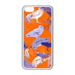 Seagull Gulls Coastal Bird Bird Apple Iphone 5c Seamless Case (white) by Nexatart