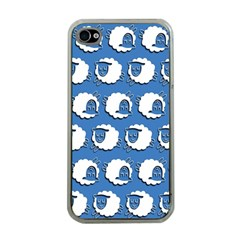 Sheep Pattern Wallpaper Vector Apple Iphone 4 Case (clear)