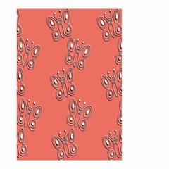 Butterfly Pink Pattern Wallpaper Small Garden Flag (two Sides) by Nexatart