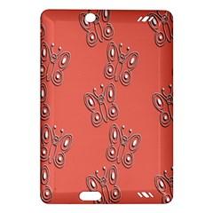 Butterfly Pink Pattern Wallpaper Amazon Kindle Fire Hd (2013) Hardshell Case by Nexatart