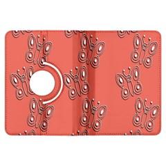 Butterfly Pink Pattern Wallpaper Kindle Fire Hdx Flip 360 Case by Nexatart
