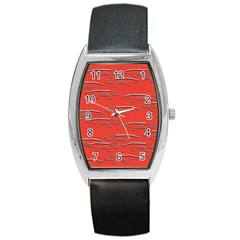 Crocodile Alligator Pattern Barrel Style Metal Watch by Nexatart