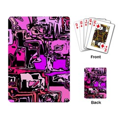 Modern Abstract 47b Playing Card by MoreColorsinLife
