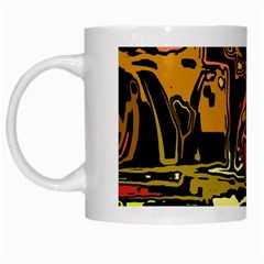 Modern Abstract 47c White Mugs by MoreColorsinLife