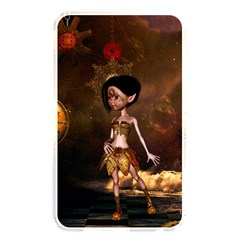 Steampunk, Cute Little Steampunk Girl In The Night With Clocks Memory Card Reader by FantasyWorld7