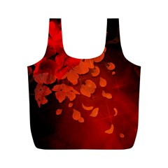 Cherry Blossom, Red Colors Full Print Recycle Bags (m)