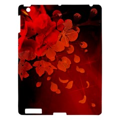 Cherry Blossom, Red Colors Apple Ipad 3/4 Hardshell Case by FantasyWorld7