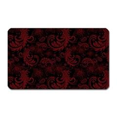 Dark Red Flourish Magnet (rectangular) by gatterwe