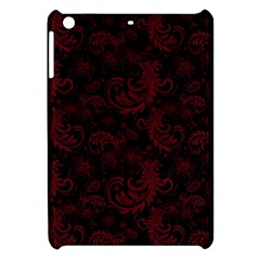 Dark Red Flourish Apple Ipad Mini Hardshell Case by gatterwe