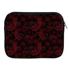Dark Red Flourish Apple Ipad 2/3/4 Zipper Cases by gatterwe