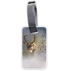 Santa Claus Reindeer In The Snow Luggage Tag (two Sides) by gatterwe