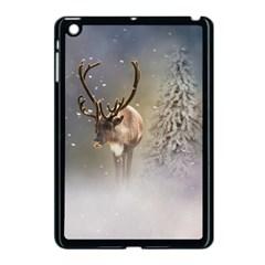 Santa Claus Reindeer In The Snow Apple Ipad Mini Case (black) by gatterwe