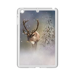 Santa Claus Reindeer In The Snow Apple Ipad Mini 2 Case (white) by gatterwe